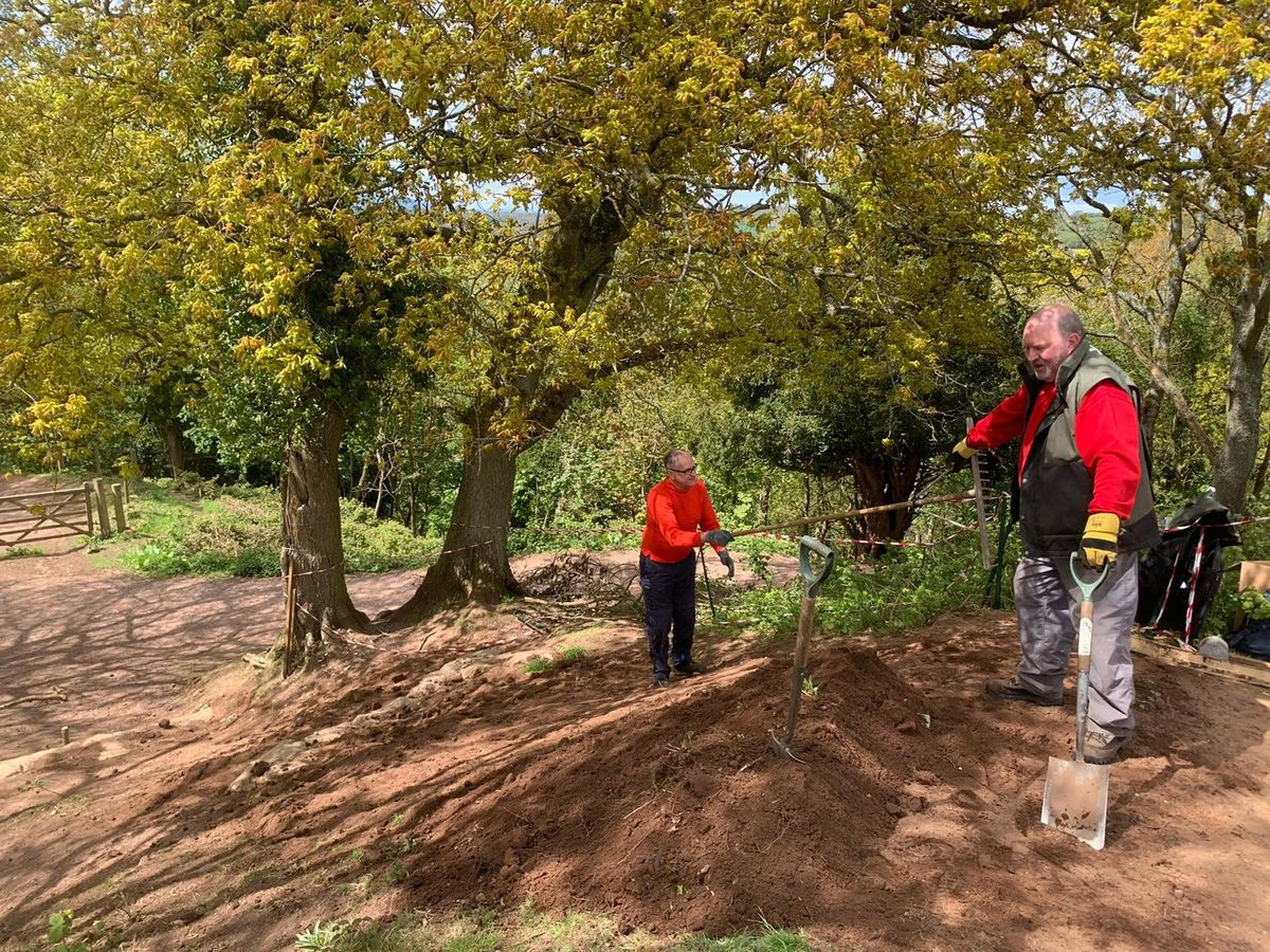 The team has been working hard to ensure the hillfort is secure