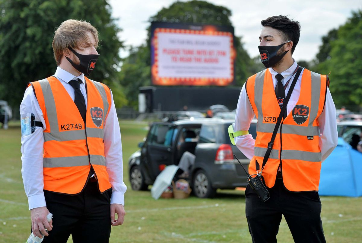 Ryan Owen-White and Chad Roberts from K2 Security helped to keep order during the event
