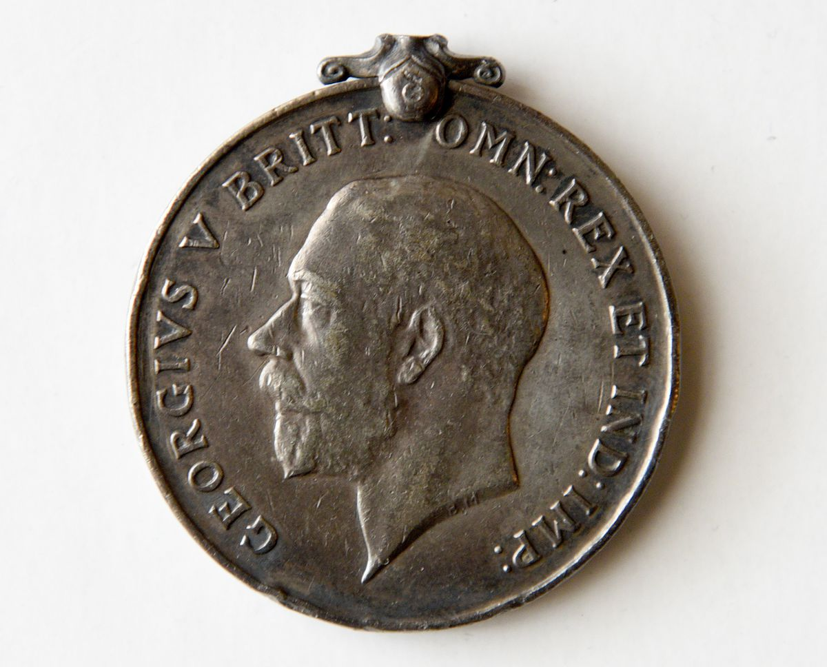 The medal found in the bottom of a Walsall canal