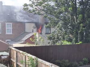 The house involved in the fire. Photo: West Midlands Fire Service