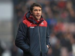 Bruno Lage during his spell at Swansea (PA)