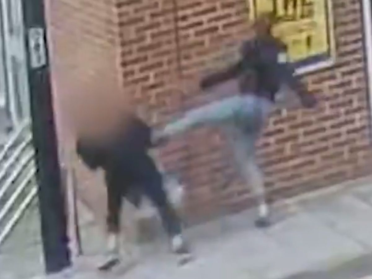 CCTV cameras captured the attack in West Bromwich