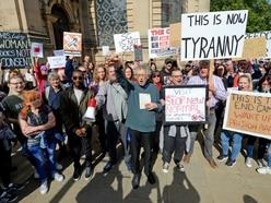 Anti-lockdown protestors take to Birmingham city streets - with VIDEO