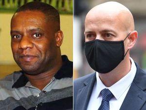 Pc Benjamin Monk, right, killed Dalian Atkinson in Telford in 2016