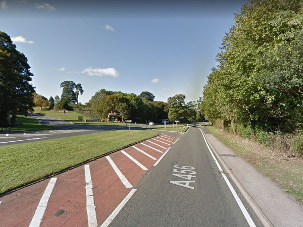 Kidderminster Road, in Bewdley, near to the entrance of West Midland Safari Park. Photo: Google Maps