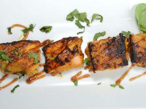 The main tandoori fish course was delicious