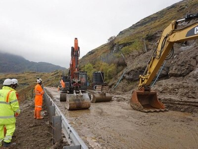 A83 reopens after landslides cleared