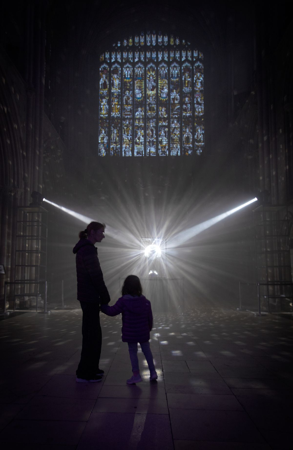 The spectacular light show at Lichfield Cathedral