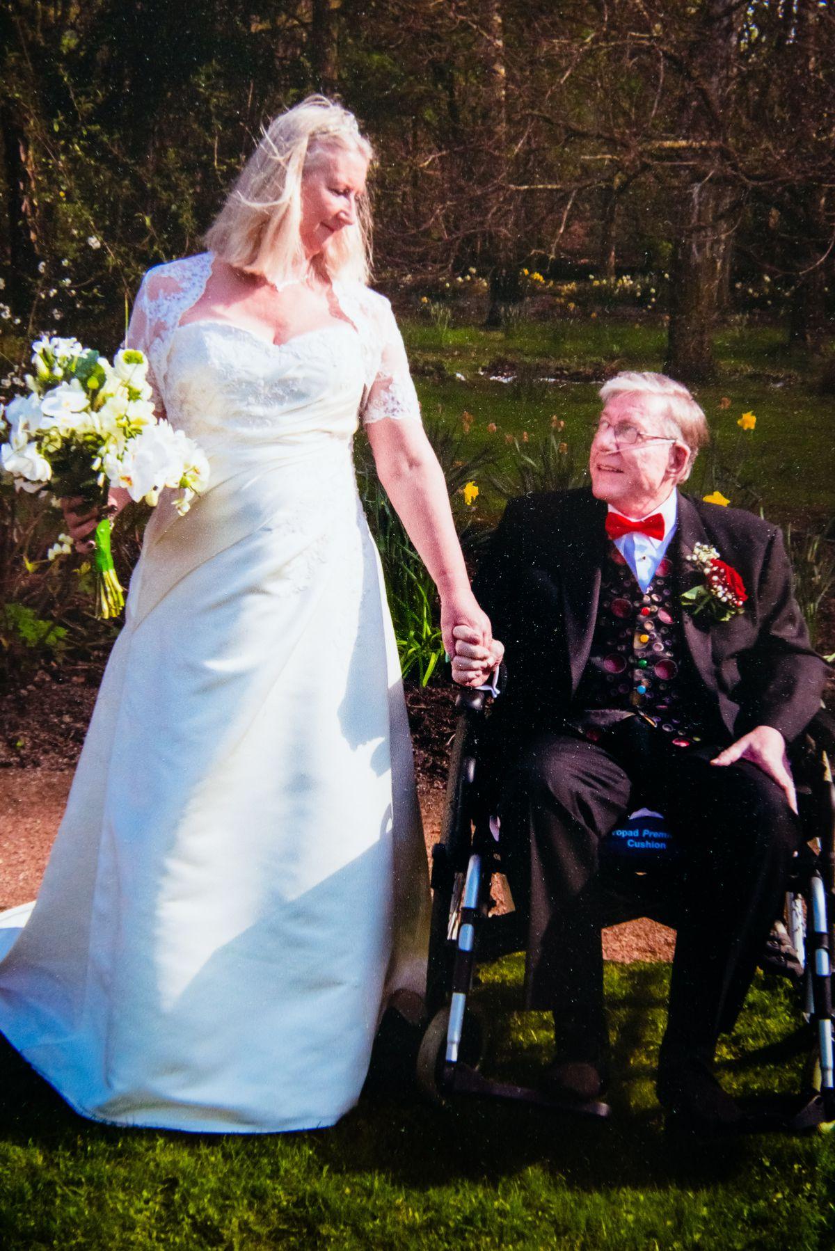 John and Irene Bradbury on their wedding day