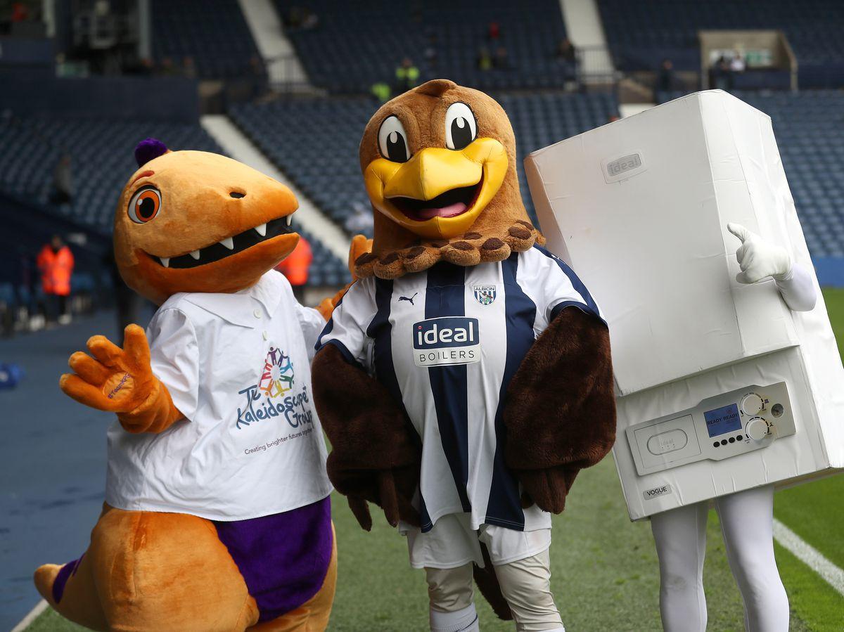 Kaleidoscope mascot with Baggie Bird and Boilerman.