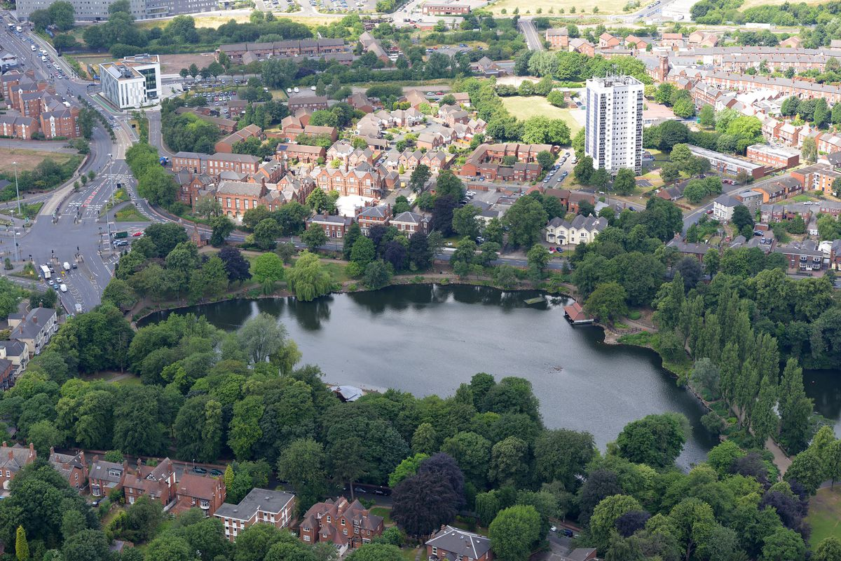 Walsall Arboretum from above