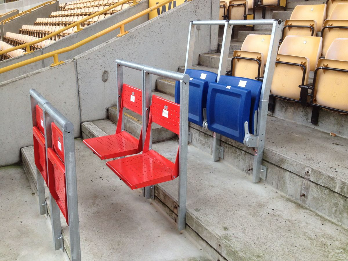 Safe standing seat options installed at Molineux