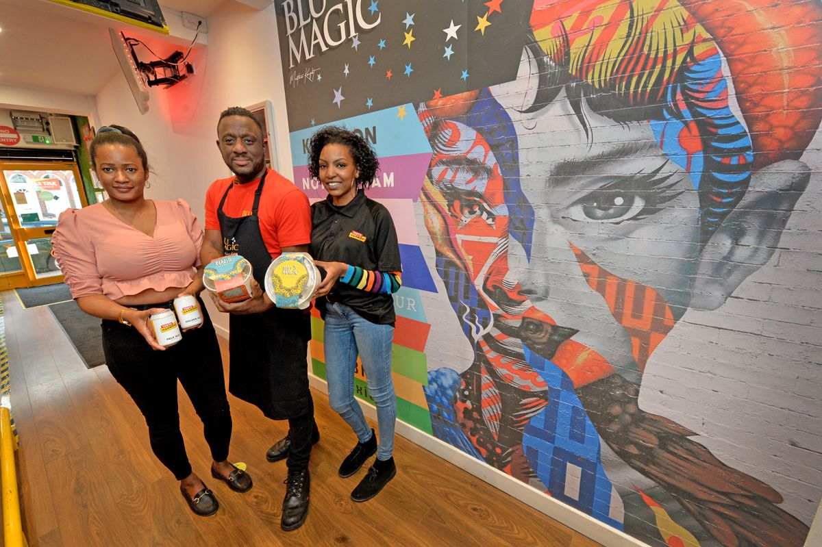 Alayna Waithe, Matthew Knight and Rhoda Ndiritu at Taste Harmony in Smethwick