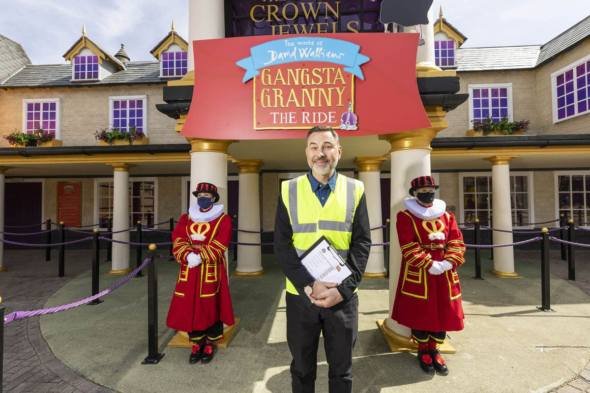David Walliams officially gives the green light to Gangsta Granny: The Ride at Alton Towers Resort