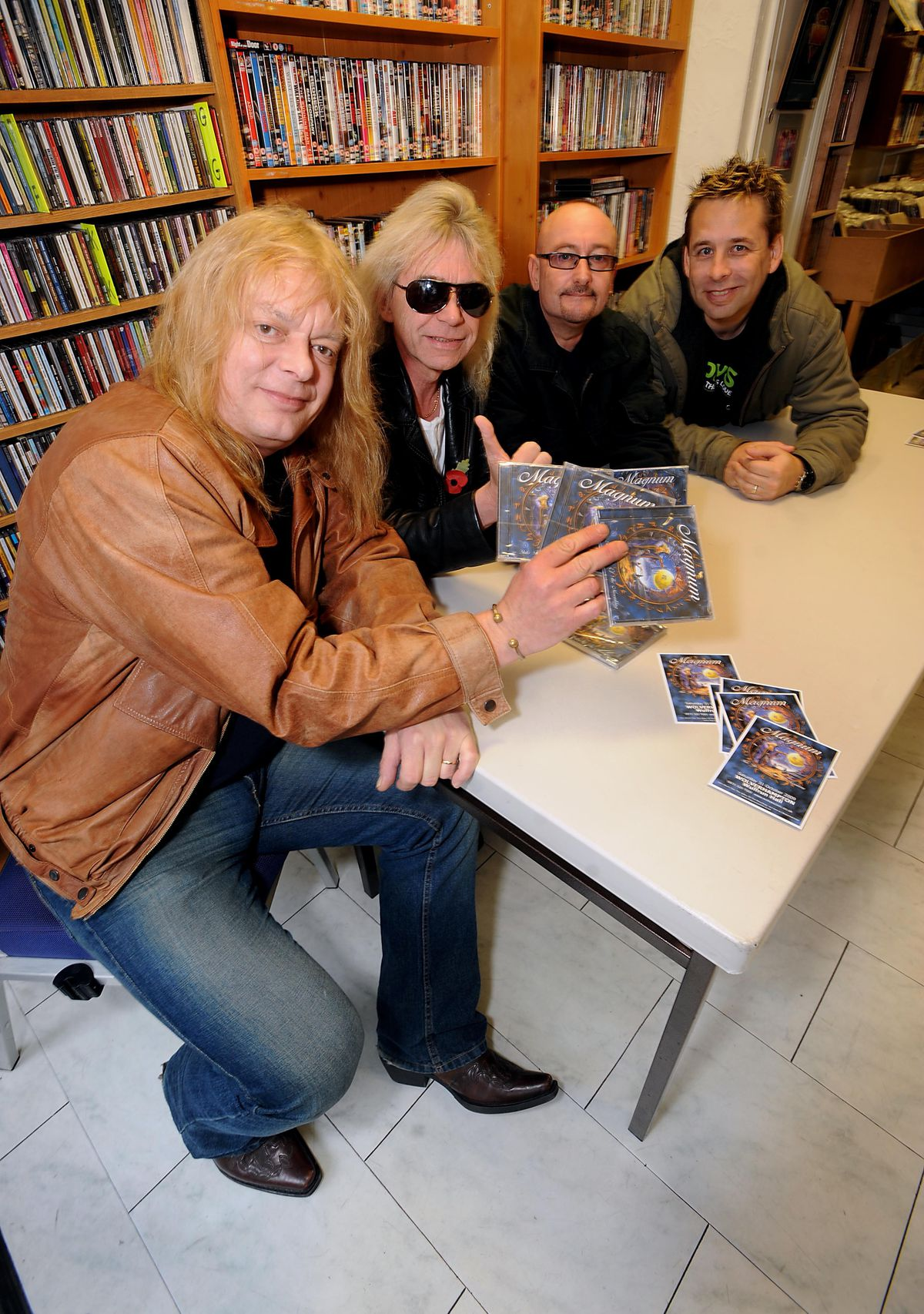 Mark Stanway (left) with fellow Magnum members Bob Catley, Harry James and Al Barrow