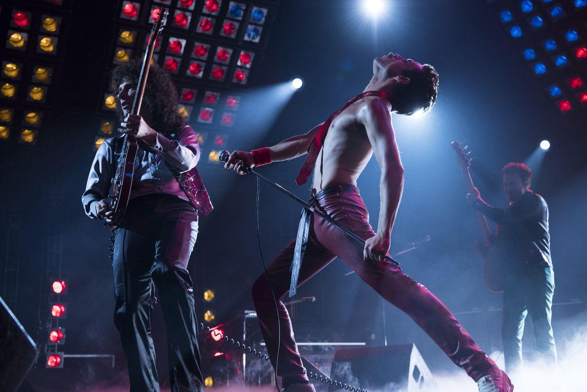 A scene from 2018's Bohemian Rhapsody starring Rami Malek