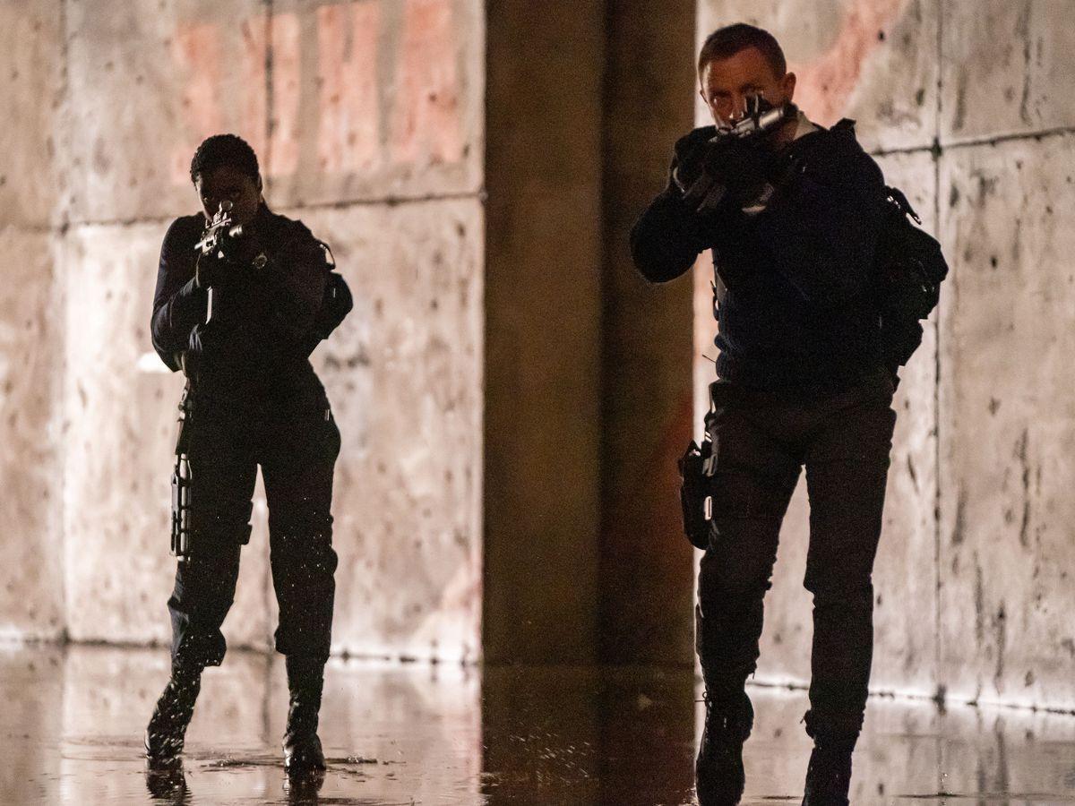 Daniel Craig as Bond with Lashana Lynch as Nomi