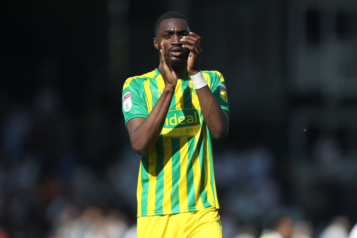Semi Ajayi of West Bromwich Albion applauds the travelling West Bromwich Albion Fans at the end of the match. (AMA)