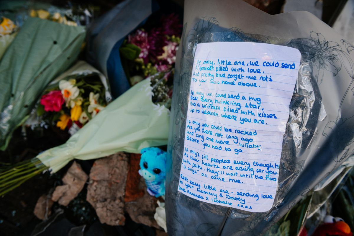 Tributes left at Brownhills High Street