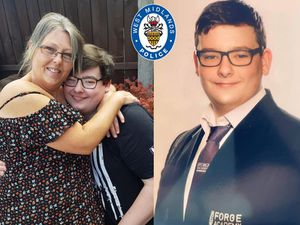 Daniel with mum Lisa (left) and in his uniform at Ormiston Forge Academy (right).