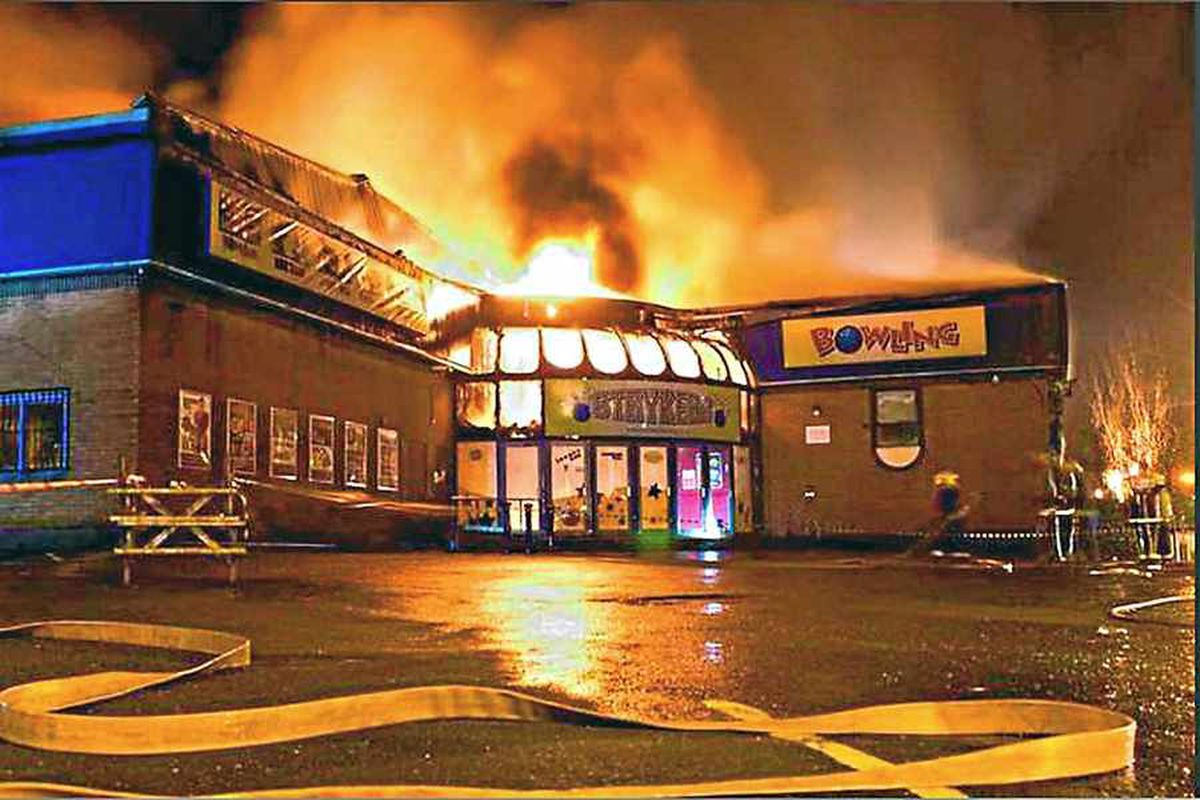 The blaze at the bowling alley