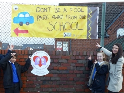 Sandwell youngsters urge better parking on school site