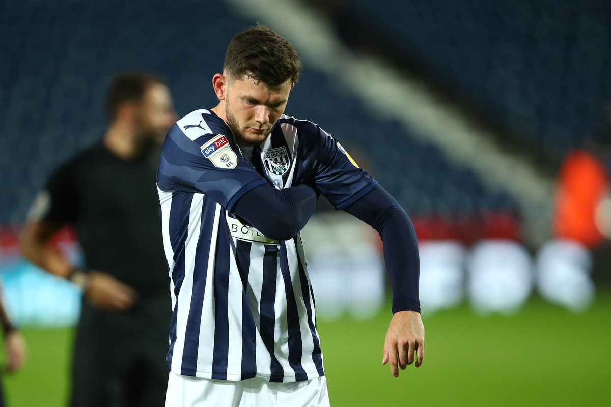 Oliver Burke of West Bromwich Albion at full time (AMA)