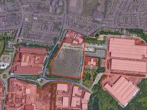 An aerial view of the Tata Steel site in Wolverhampton where new units could be built. Photo: UMC Architects