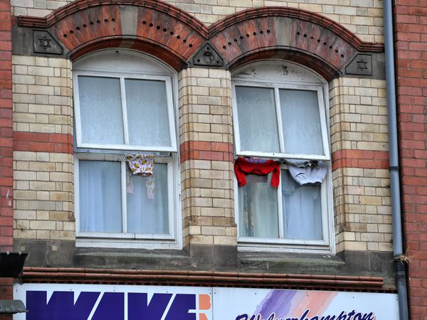 A total of 200 asylum seekers have been placed in the Britannia Hotel building, Wolverhampton...