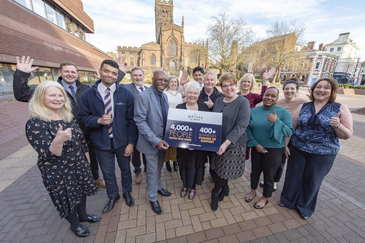 The Wolves at Work programme was celebrating helping 4,000 people into work in March