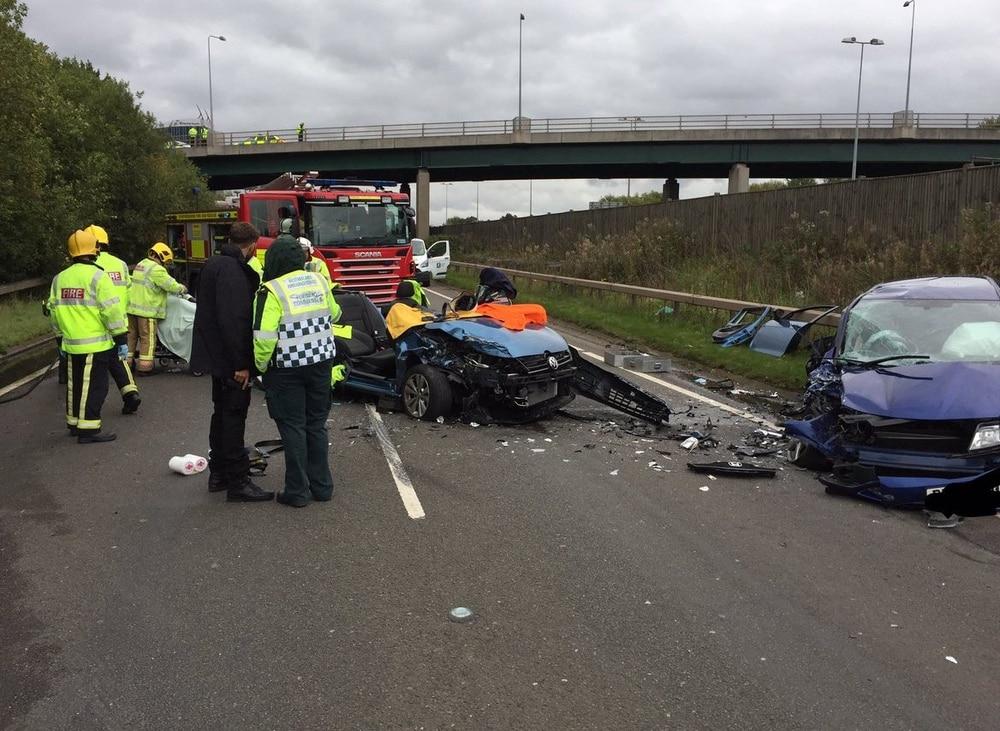 Three taken to hospital after horror smash near Cannock | Express & Star