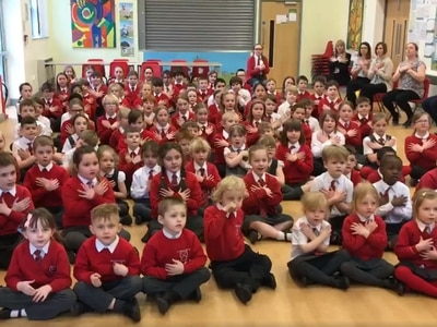 Thousands moved to tears as Stafford primary school song goes viral - WATCH