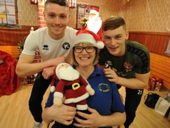 Saddlers players visit Walsall hospice to spread festive cheer