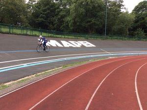 International cyclist Alistair Fielding trains at Halesowen during lockdown