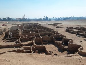 An archaeological discovery as part of the Lost Golden City in Luxor, Egypt
