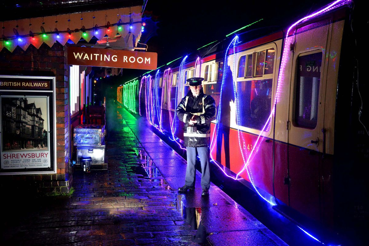 LAST COPYRIGHT SHROPSHIRE STAR STEVE LEATH 10/12/2019..Pic in Bridgnorth at the Severn Valley Railway where they had there Lights and Steam event ( pics taken in torrential rain).  Tony Fielding..