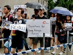 Hong Kong teachers' rally kicks off another weekend of protests