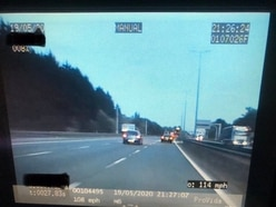 Driver spotted doing 114mph on M6 in West Midlands