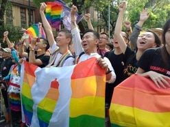 Colourful celebrations in Taipei as Taiwan legalises same-sex marriage