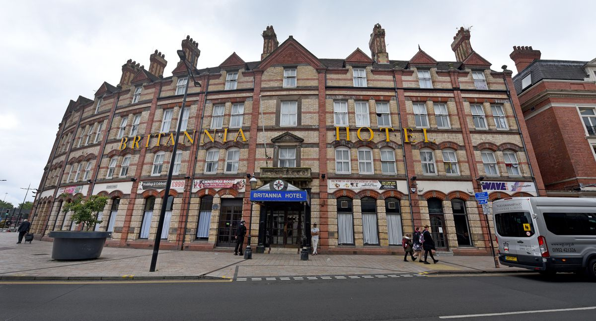 Asylum seekers have been put up in the Britannia Hotel in Wolverhampton city centre
