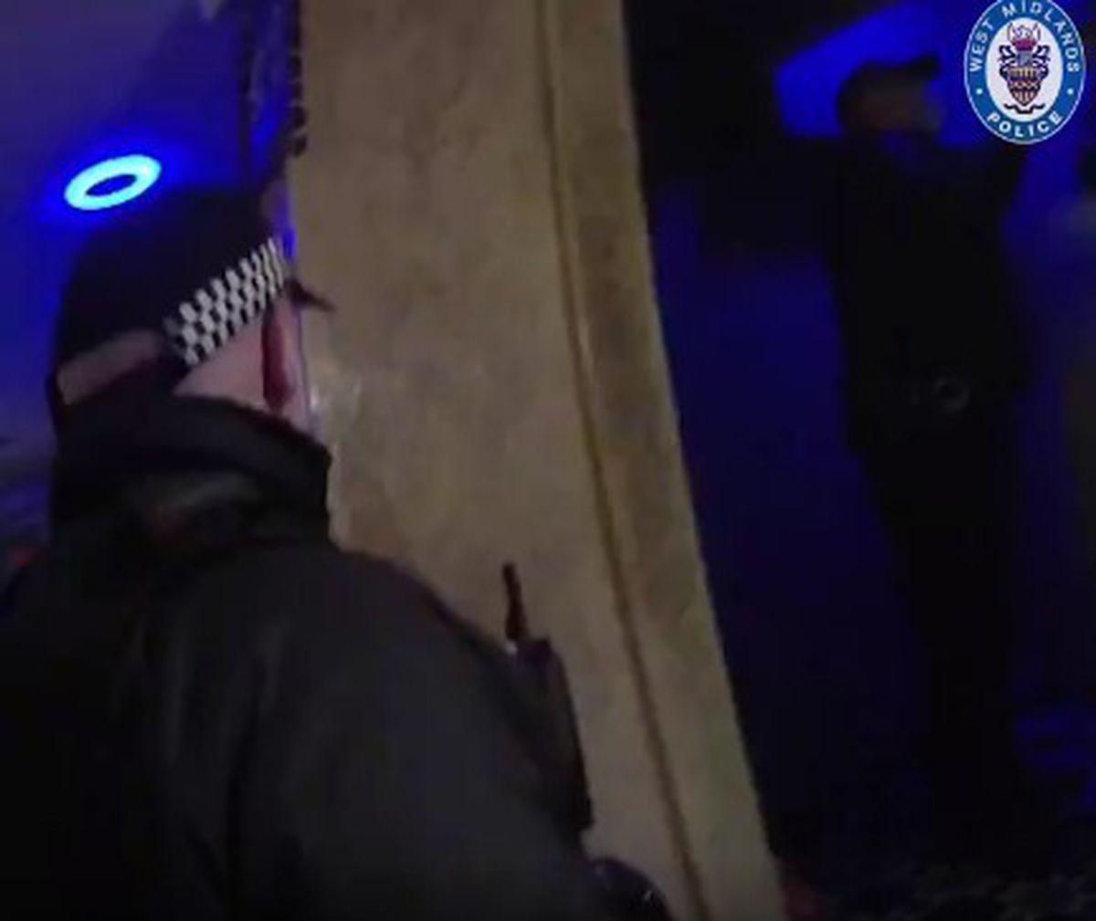 Police at the shisha bar in Sparkbrook