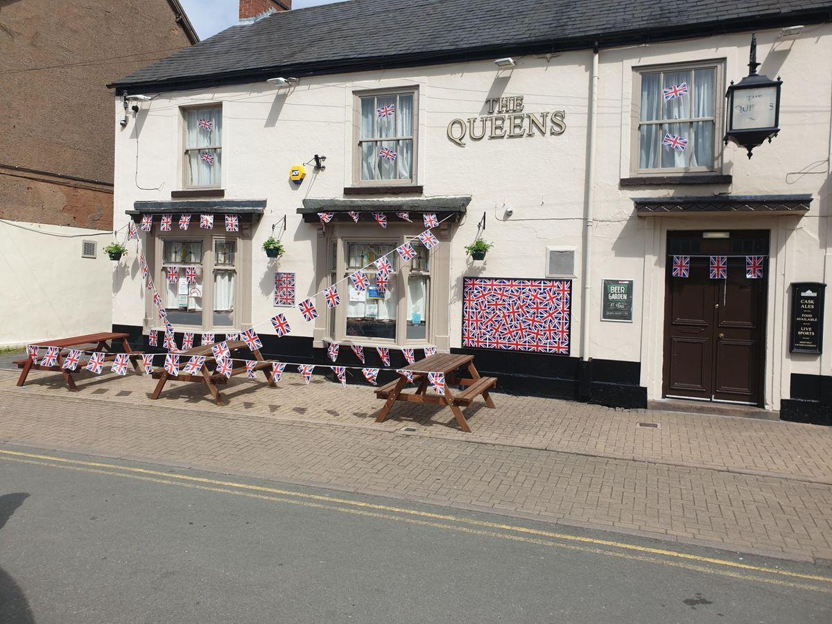 The Queen's village pub in Pelsall celebrating VE Day