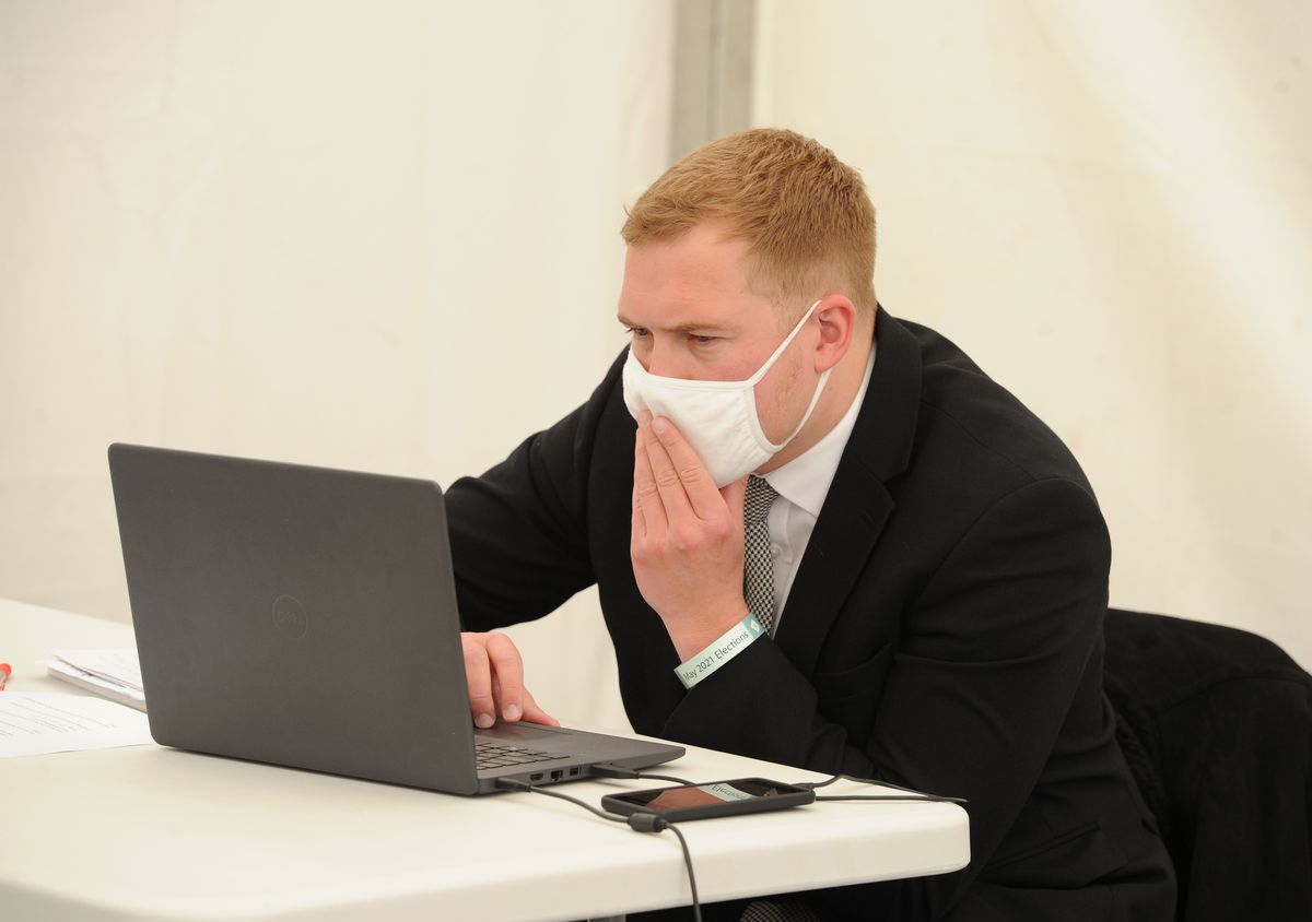 Our reporters had dedicated desks and wore masks