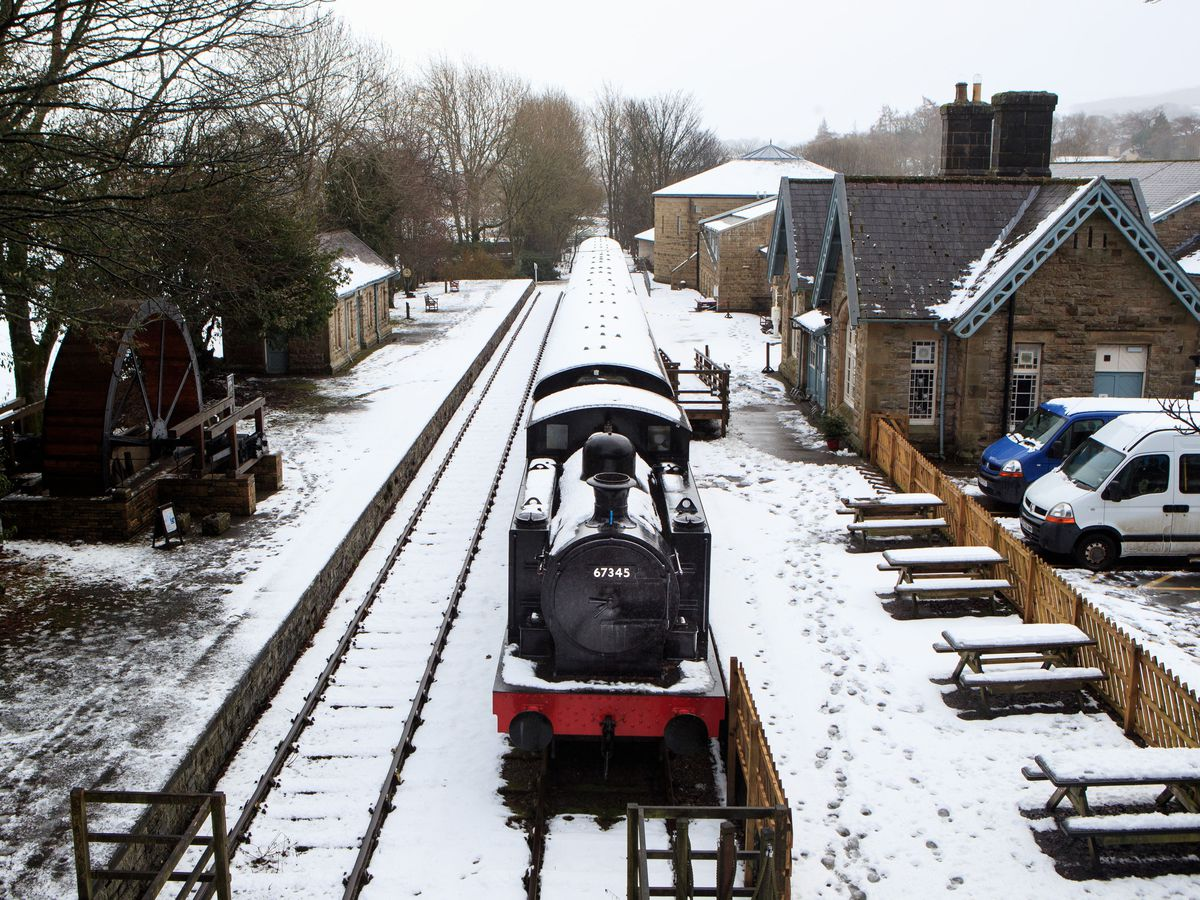 A snowy scene in North Yorkshire