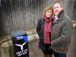 Murdered James Brindley's parents unveil Walsall's first knife surrender bin