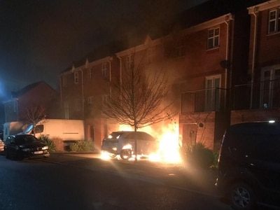 Family flee home after Audi set alight on driveway in suspected arson