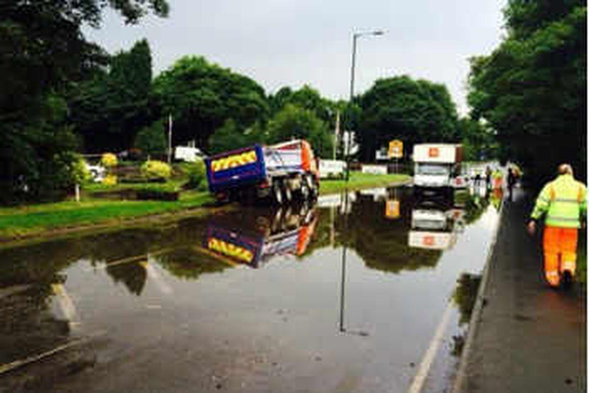 Flash flooding hits Walsall