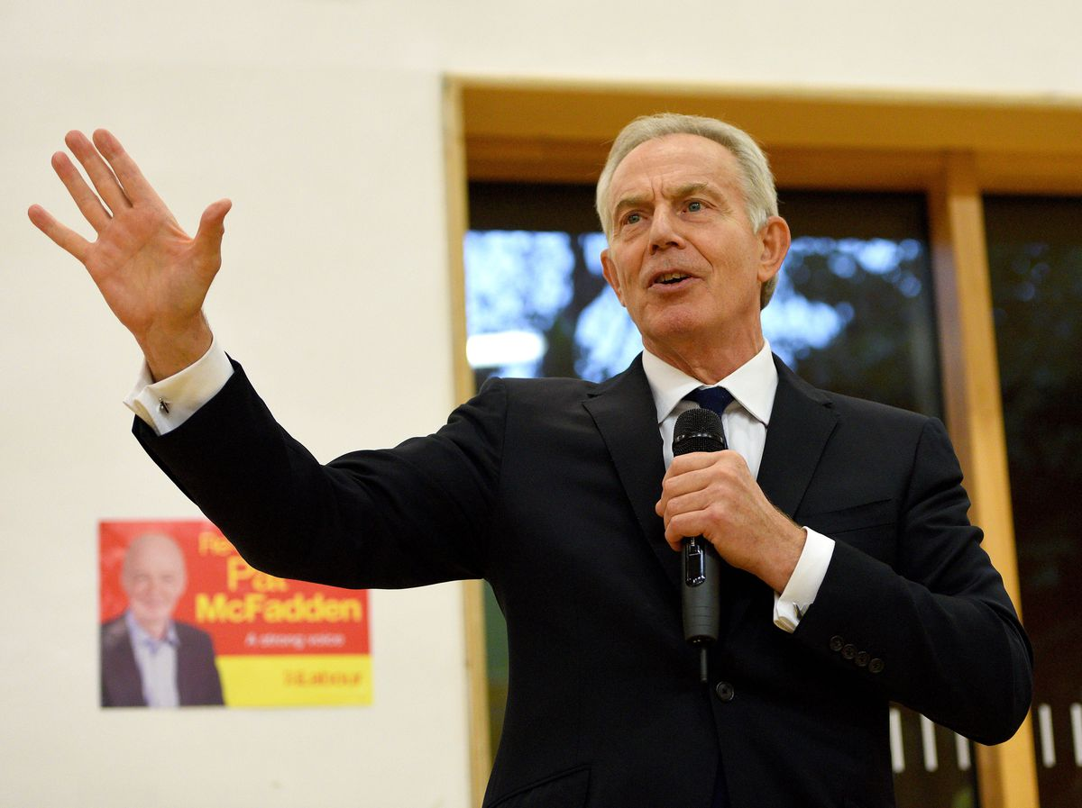 Tony Blair addressed Labour supporters in Wolverhampton, where he gave his backing to Pat McFadden in the election
