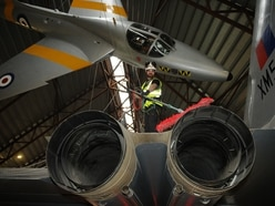 Specialists begin high-level cleaning of RAF Cosford Museum aircraft - in pictures