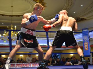 Brad Foster from Lichfield and Harry Reeve fight at The Venue In Dudley.